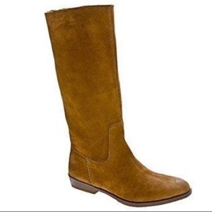 Nine West Chestnut Brown NW Frolic Suede Boots 7